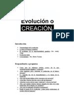 Evolucion o Creacion