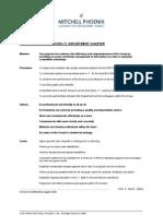 Management Training Mitchell Phoenix - Example Department Charter