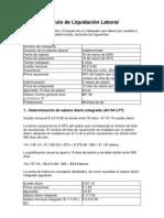 IMSSEjemplo Cálculo de Liquidación Laboral