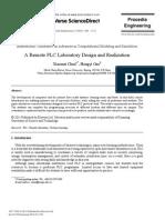 2007 a Remote PLC Laboratory Design and Realization