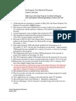 Oregon Department of Revenue report on senior property tax deferral program