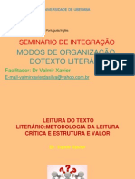 MODOS DE ORGANIZA+ç+âO DO TEXTO LITER+üRIO