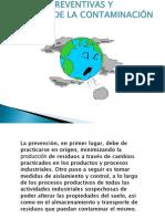 MEDIDAS PREVENTIVAS DE CONTAMINACIÓN Y CONTROL DEL SUELO