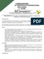 Convocatoria Area Informatica 2011