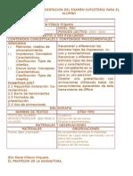 Formulario de Orientacion Del Examen Supletorio Para El Alumno