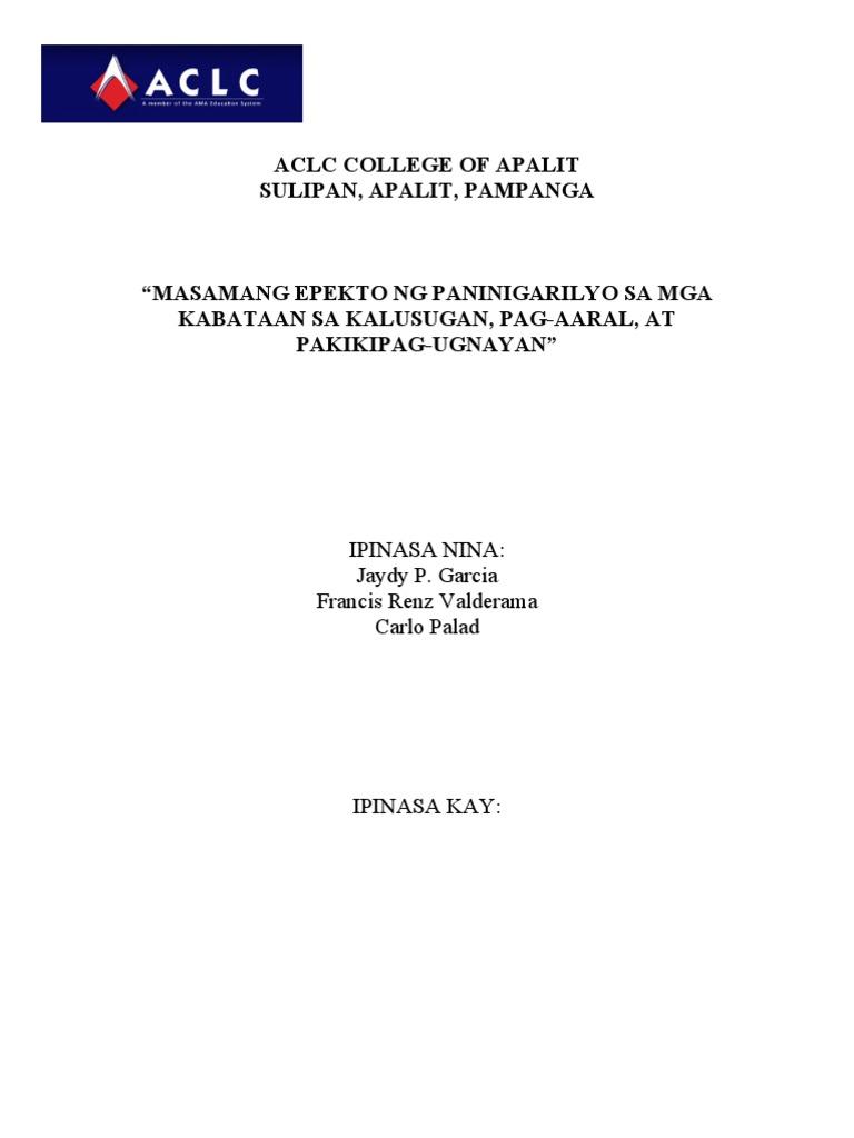 abstract ng thesis