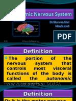 Autonomic Nervous System, Lect 5