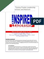 General Tommy Franks Leadership Institute and Museum - INSPIRED LEADERSHIP