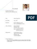 Cv of Prof. Shanker Thapa - Updated March 2013