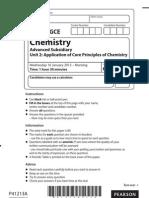 Edexcel AS Chemistry Unit 2 Jan 2013