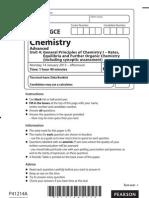 Edexcel AS Chemistry Unit4 Jan 2013
