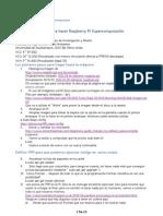 Pasos para hacer Raspberry Pi Supercomputación