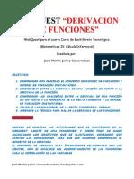 Webquest Derivacion de Funciones