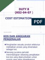 Calculate Estimation