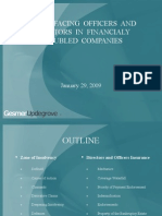 Issues Facing Officers and Directors in Financially Troubled Companies