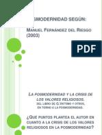 LA POSMODERNIDAD Y LA CRISIS DE VALORES.pptx