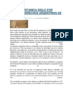Prensa Britanica Siglo Xviii Refleja Derechos Argentinos de Malvinas