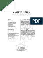 20Cadernos IPPUR - Ano XIII, n2, Ago-Dez 1999