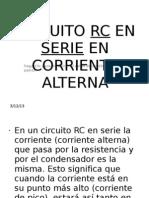 Circuito Rc en Serie en Corriente Alterna