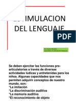 Presentacion Estimulacion de Lenguaje