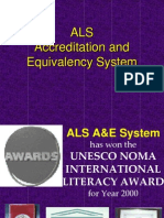 ALS Accreditation &Equivalency System Overview