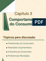 Capítulo 03 Comportamento do Consumidor - Microeconomia PINDYCK E RUBINFELD