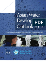 Asian Water Development Outlook 2013