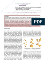 Dispersion Processrole in the Formulation of Particulate Disperse System of Poorly Soluble Drugs
