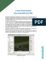 Avant Projet Routier Avec Civil 3D