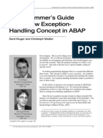 A Programmer's Guide to the New Exception-Handling Concept in ABAP