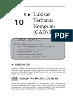 Topik 10 Lukisan Terbantu Komputer (CAD) 3D II