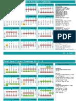 Academic Calendar 2012-2013
