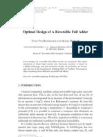 Optimal Design of a Reversible Full Adder