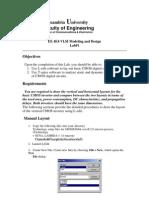 Tanner EDA VLSI project Lab 1