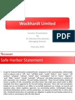 Wockhardt-Investor Presentation Feb-2013 Rev