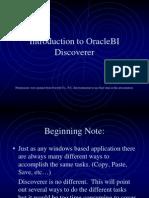 Oracle BI DiscovererTraining