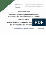 Fascicule 65 - Exécution de Génie Civil en Béton armé ou Précontraint - Annexe de l'arrêté du 30.05.2012