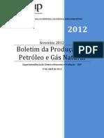 Boletim da Produção de Petróleo e Gás Natural 2012