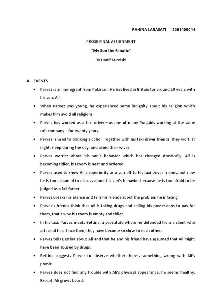 """summary my son the fanatic As an example, this post is a treasure chest of tasks and activities you can do with your (b2-c2) learners based on the text """"my son the fanatic""""."""