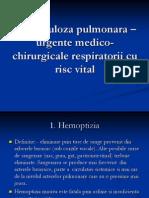 Tuberculoza Pulmonara - Urgente Medico-Chirurgicale Respiratorii Cu Risc Vital