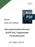 Axel Strotbek - Jahrespressekonferenz 2013