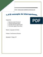 1.4 Concepto de Interrupción
