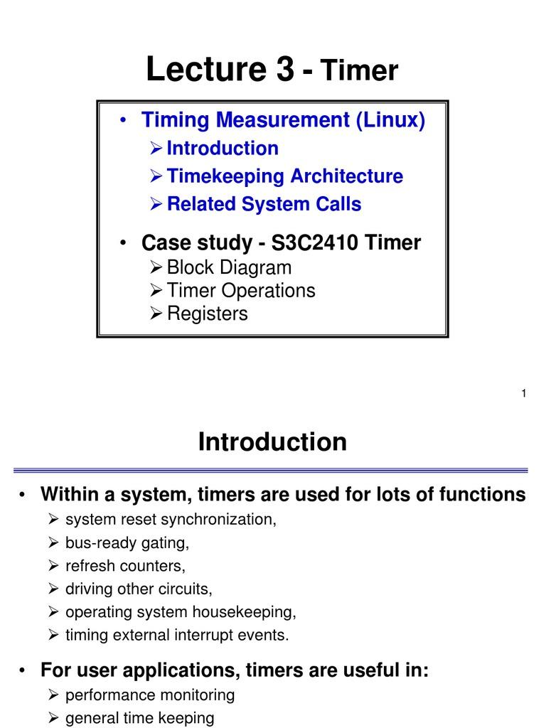 Linux Timers Timer Kernel Operating System Block Diagram