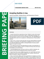 Accepting Realities in Iraq. A Catham House Paper
