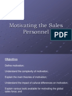 Motivating the Sales Personnel