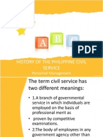 History of the Philippine Civil Service1
