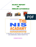 PROJECT REPORT on Two Wheeler Automobile