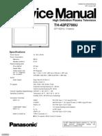 PANASONIC PLASMA TH-42PZ700UA