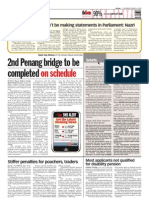 thesun 2009-03-04 page04 2nd penang bridge to be completed on schedule