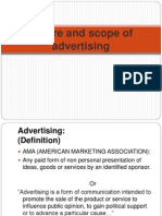 Nature and Scope of Advertisiing Research